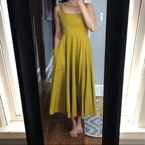 Free People Midi Dress with Bows & Pockets NWOT